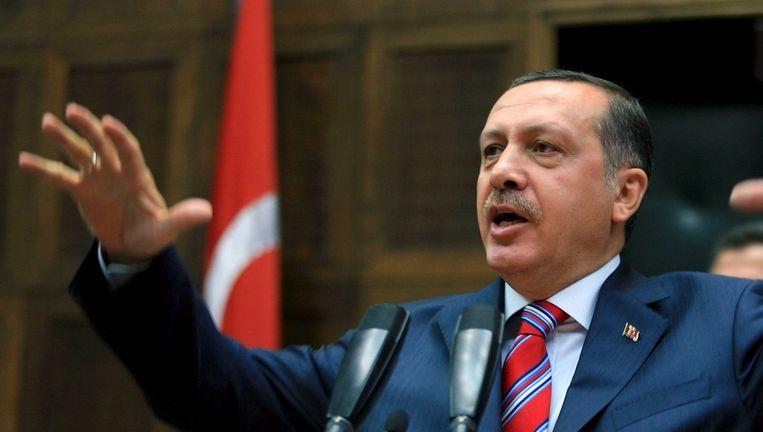 De Turkse president Erdogan heeft met een meerderheid in het parlement alle ruimte Turkije naar zijn hand te zetten. Beeld anp
