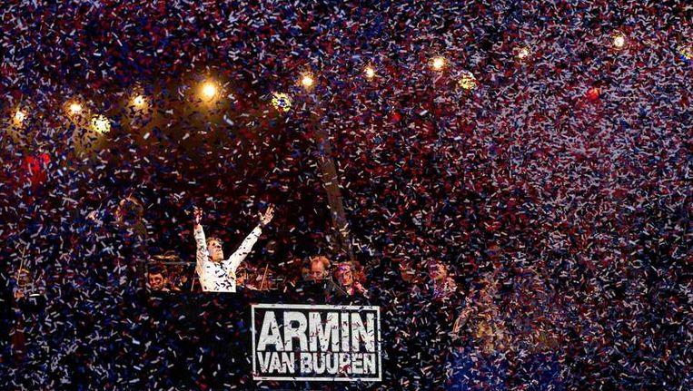 Armin van Buuren gisteren op de kop van het Java-eiland. Beeld anp