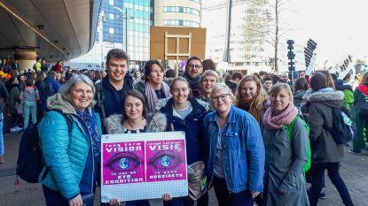Studenten Thomas More steunen klimaatspijbelaars tijdens klimaatmars