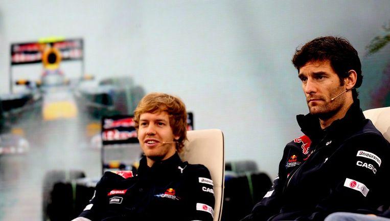 Sebastian Vettel en Mark Webber Beeld