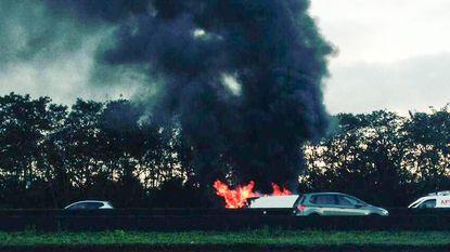 Zware ochtendspits op Ring door brandende bestelwagen