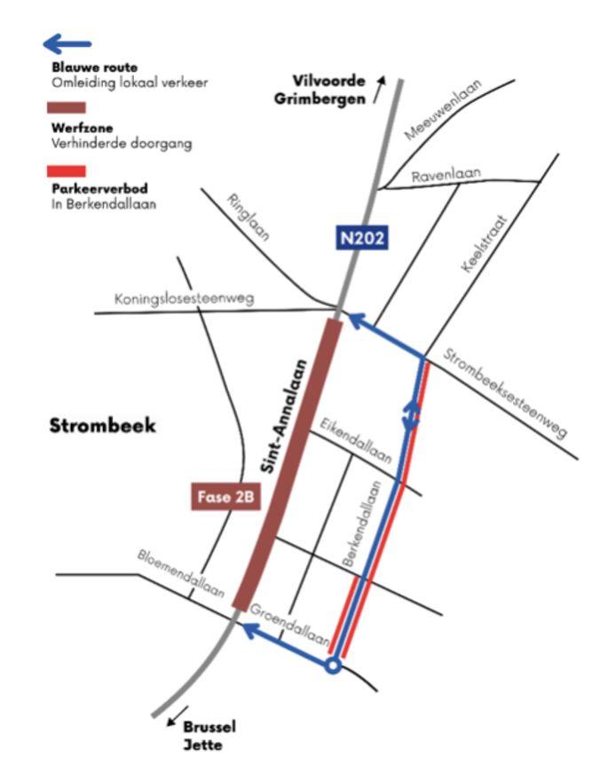 Het kruispunt tussen Strombeek en Koningslo is opnieuw bruikbaar.