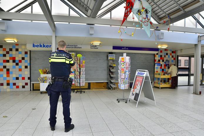 Overval Bekker tabak- en lectuurshop Paletplein Tilburg.