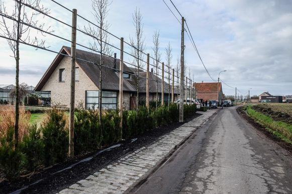 Het bedrijf ligt achter deze villa in de Dammaertstraat.