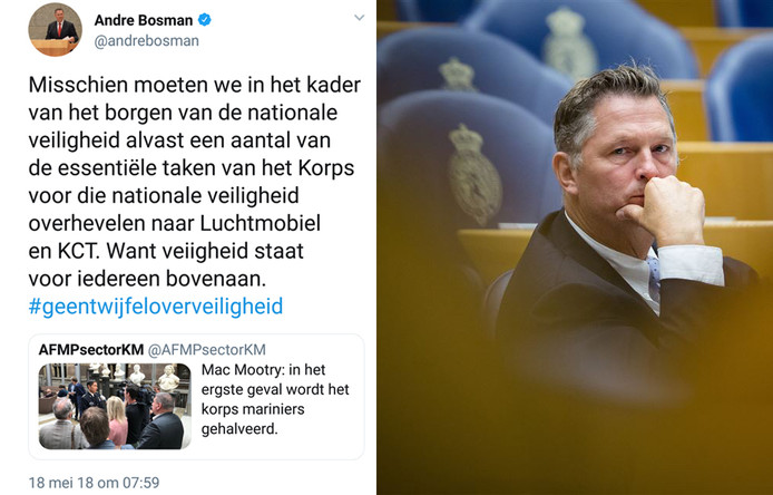 André Bosman en zijn tweet.