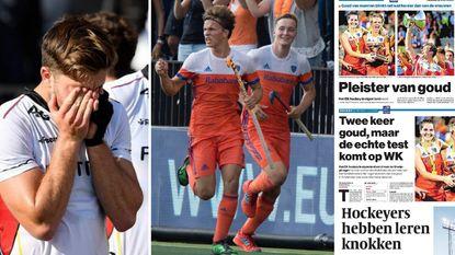 """Oranje is pak slaag van Red Lions helemaal vergeten: van """"Gouden pleister"""" tot """"België kwam er niet aan te pas"""""""