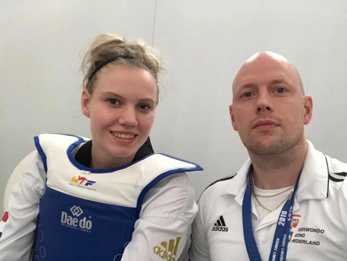 Isabeau van Droffelaar verloor in de eerste ronde van het kwalificatietoernooi voor de Youth Olympic Games.
