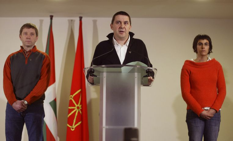2007 Spanje en de ETA: Een woordvoerder van de Baskische partij Batasuna roept de ETA op zich te houden aan een staakt-het-vuren. De ETA deed dat niet en en staakte haar gewapende strijd pas in 2011. Beeld null