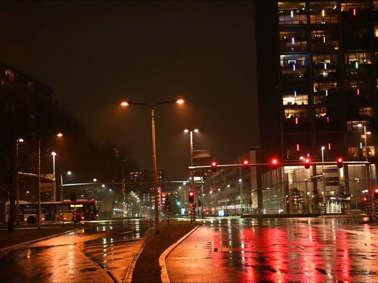 De avondklok zorgt voor lege straten in Tilburg