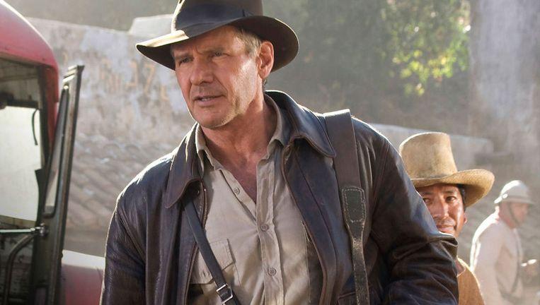 Harrison Ford in de vierde Indiana Jones-film Beeld null