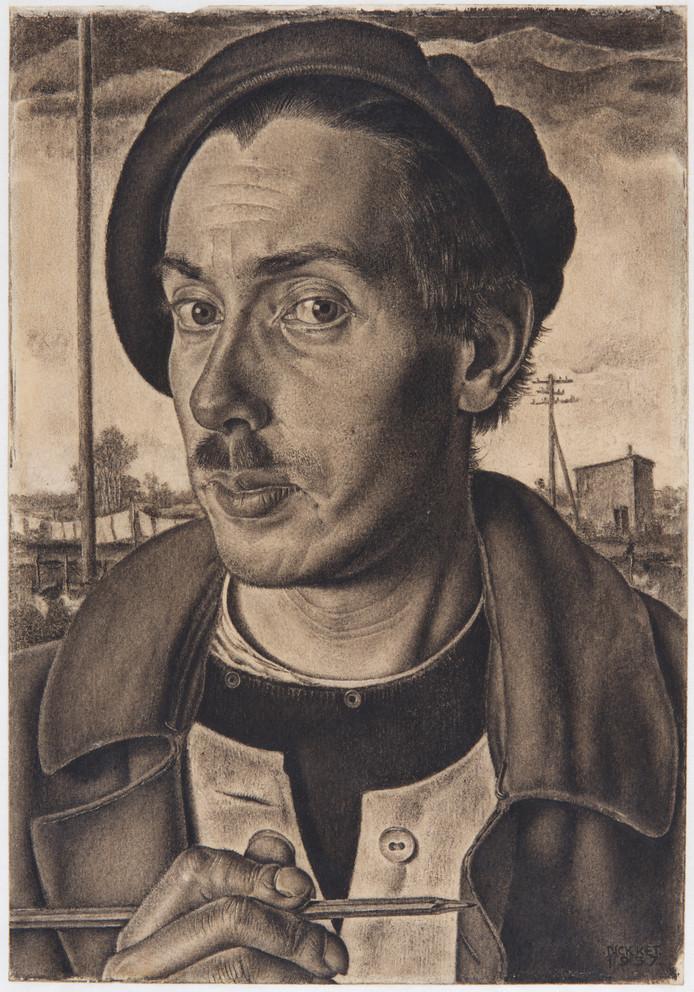 Zelfportret van Dick Ket uit 1937. Foto: Marc Pluim