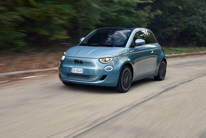 De volledig elektrische Fiat 500e