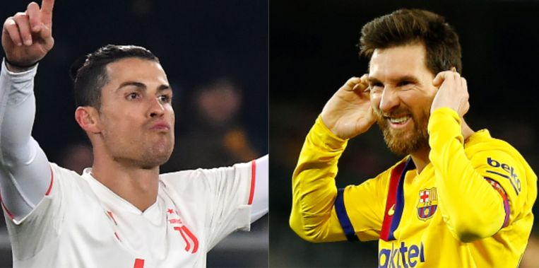 Ronaldo en Messi.
