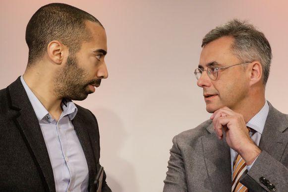 Kandidaat-voorzitters van CD&V Sammy Mahdi en Joachim Coens