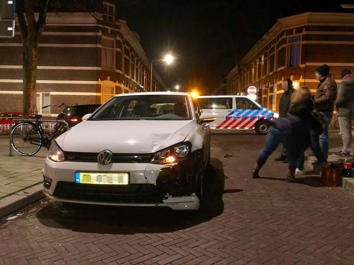 De situatie in Arnhem kort na de aanrijding