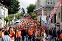 De Oranjeparade gisteren in Portugal.