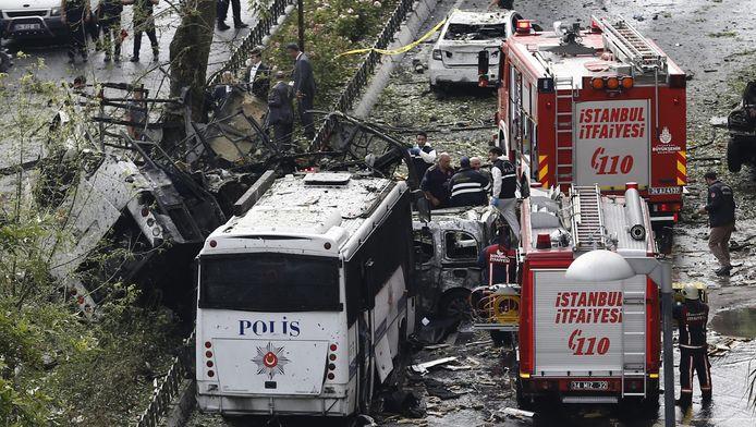 De bomaanslag in Istanbul.