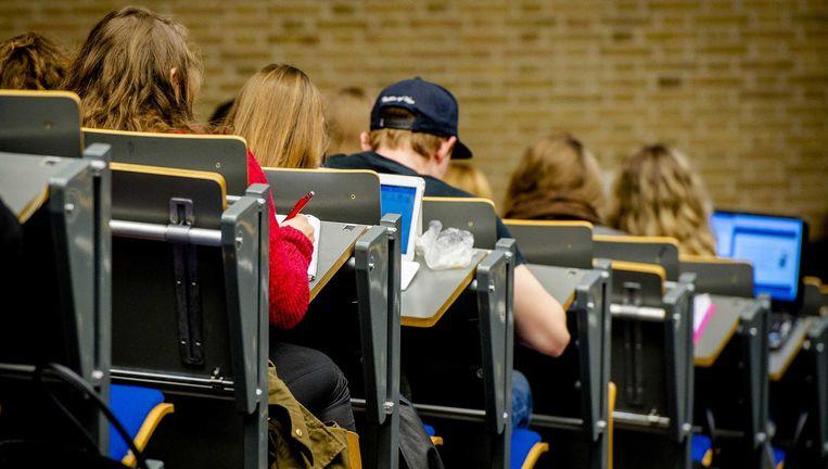 Studenten in college. Beeld ANP XTRA