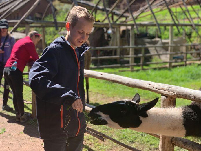 Matthijs van den Broek tijdens een reis met zijn school naar Peru.