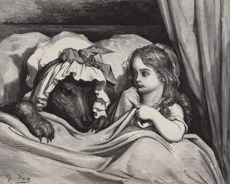'Roodkapje', 1862, Adolphe Pannemaker. Beeld Burg Wissem, Bilderbuchmuseum der Stadt Troisdorf