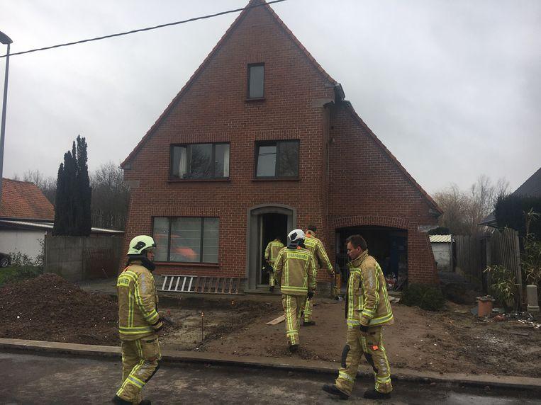 De schade in de woning bleef beperkt.