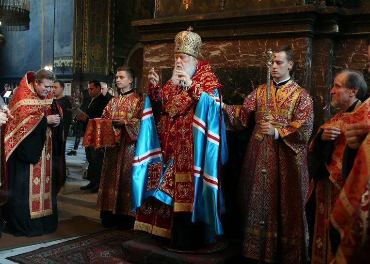 Patriarch Filaret, hoofd van de Oekraïense Orthodoxe Kerk Beeld AP