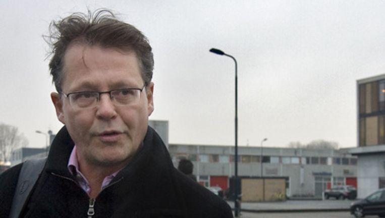 Advocaat van Dino Soerel mr. Nico Meijering hier op archief bij de speciaal beveiligde rechtszaal de Bunker in Osdorp. Foto ANP Beeld