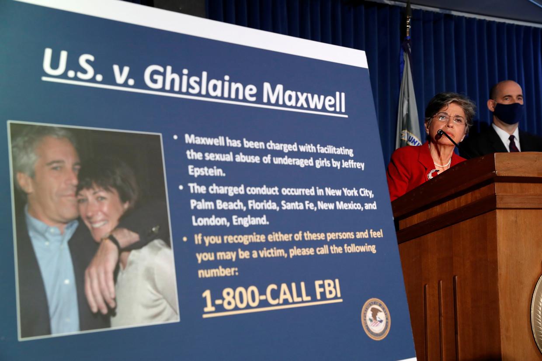 De aanklacht tegen Maxwell.  Beeld REUTERS