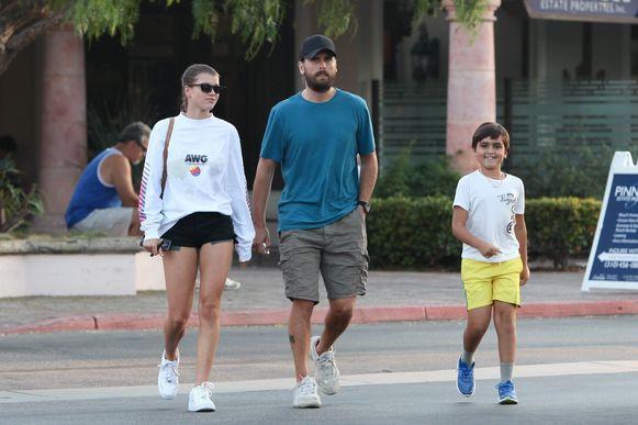Scott Disick en Sofia Richie met Scotts zoon Mason