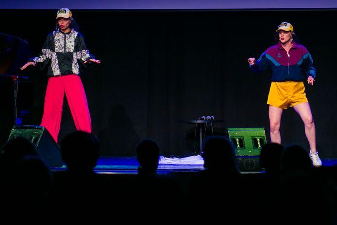 Het duo Vlamousse trad 's avonds op tijdens The Funniest Festival Ever.