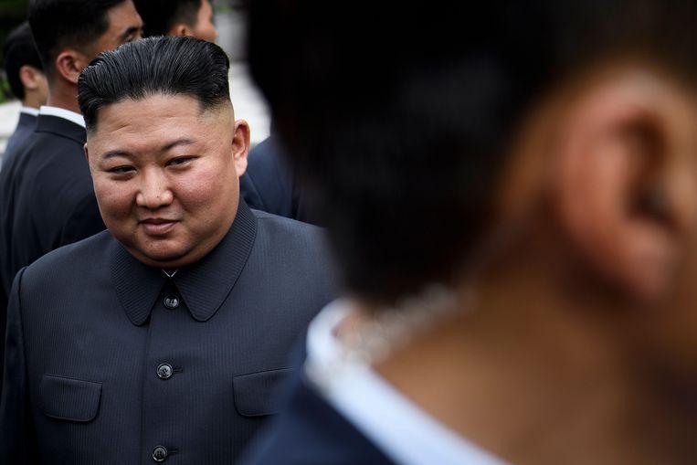 Kim Jong-Un, hier op een archieffoto van vorig jaar.  Beeld AFP