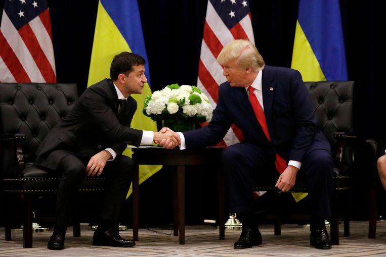 Trump en Zelenski ontmoetten elkaar uiteindelijk in september vorig jaar tijdens de VN-bijeenkomst in New York.