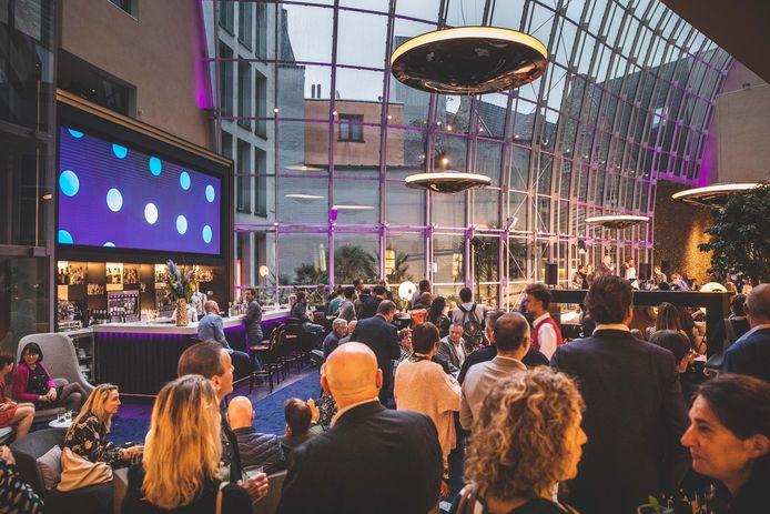 De nieuwe lobby van het Marriott hotel in Gent