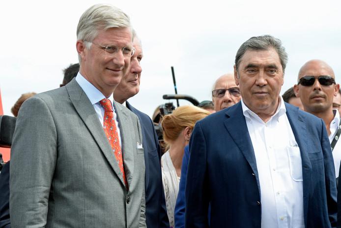 Le roi Philippe et Eddy Merckx en 2015