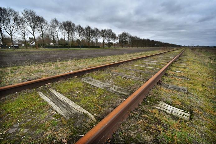 Op het desolate stukje spoor achter de Groningse plaats Stadskanaal rijdt nu af en toe een historische stoomtrein.