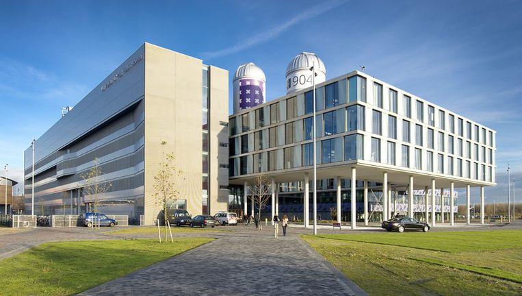 Het nieuwe gebouw van de Faculteit der Natuurwetenschappen, Wiskunde en Informatica (FNWI) van de Universiteit van Amsterdam (UvA) op Science Park Amsterdam. Foto ANP Beeld