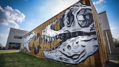 Dinokunstwerk van Tom Herck fleurt industriezone Nieuwerkerken op