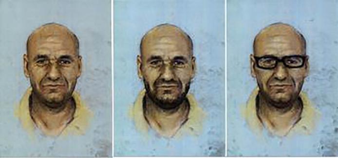 Compositietekening van Saïd Razzouki, zoals hij er nu uit zou kunnen zien.