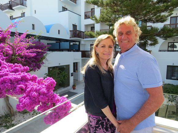 Jean-Marie Pfaff en partner Carmen op vakantie in Kos
