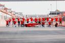 Het nieuwe Twentse solarteam op het circuit van Zolder in België.