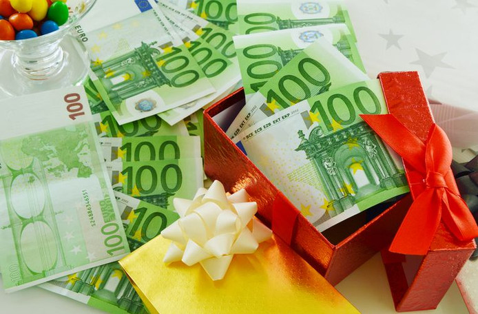 Un compte d'épargne comme cadeau de Noël