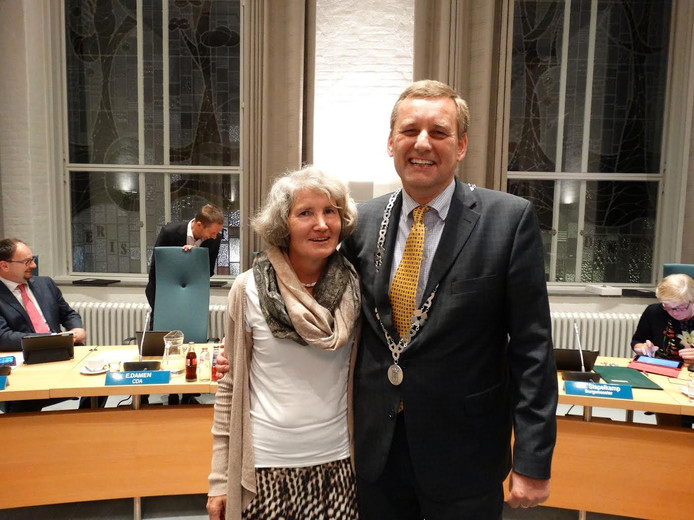 Anton Stapelkamp met zijn vrouw.