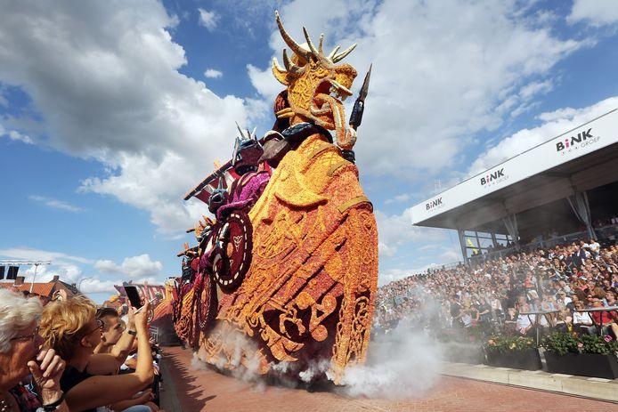 20190901 - Zundert - Bloemencorso 2019. Buurtschap Tiggelaar, met de winnende wagen 'Vikings'.  FOTO: PIX4PROFS/RAMON MANGOLD