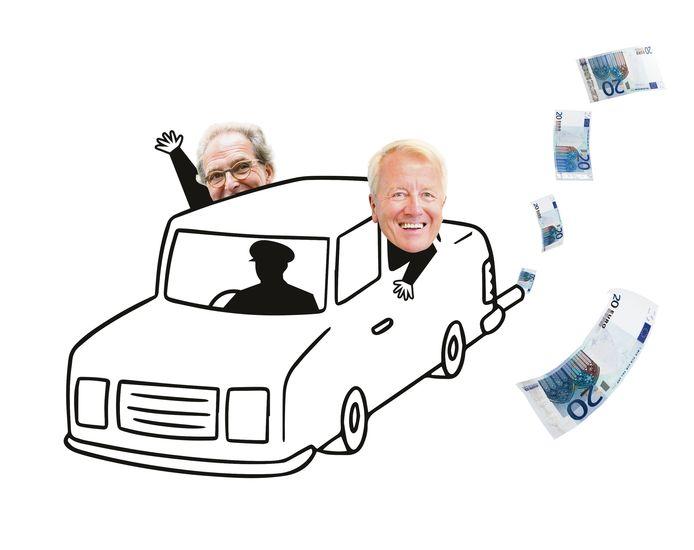 De burgemeesters van Tilburg en Den Bosch, in het onderzochte jaar 2016 waren dat nog Noordanus en Rombouts, beschikken over een leasewagen met chauffeur.