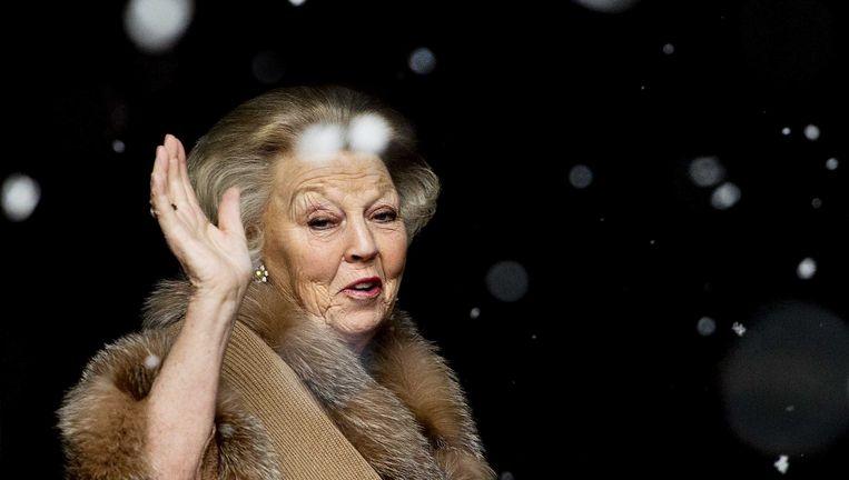 Koningin Beatrix bij de nieuwjaarsreceptie in Amsterdam. Beeld ANP