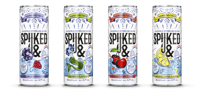 Het nieuwe drankje van Swinkels Family Brewers (Bavaria). Een hard seltzer met de naam Spijked&.