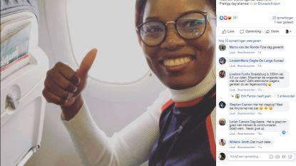 Europees Parlementslid Assita Kanko (N-VA) met het vliegtuig naar Straatsburg