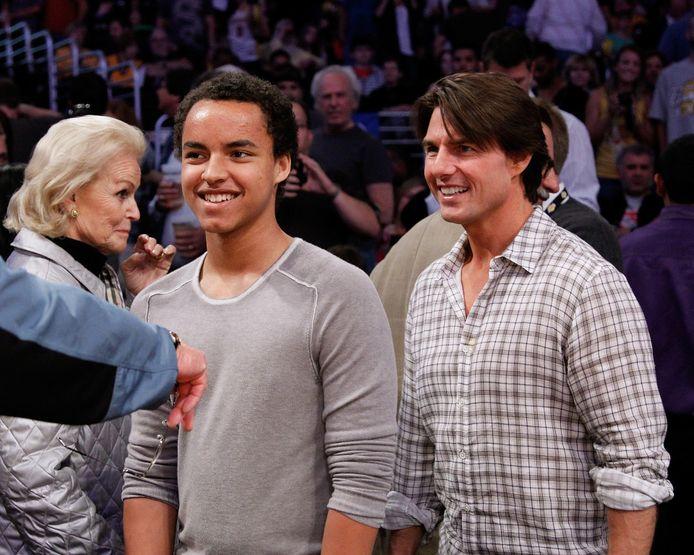 Connor Cruise et son père, en mars 2019