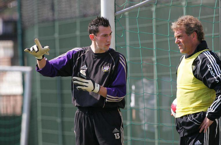 Jacky Munaron (R) hier aan het werk met een nog jonge Silvio Proto.
