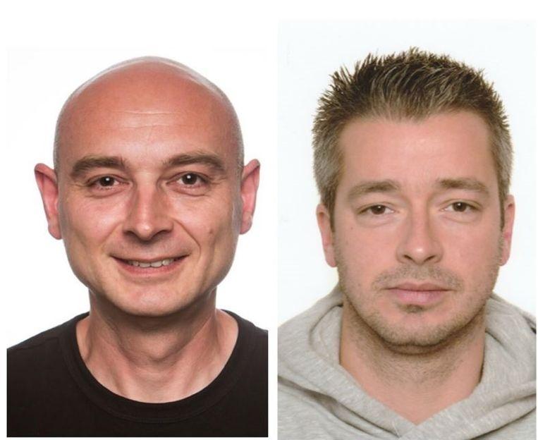 Chris Medo (links) en Benni Smulders stierven vorig weekend bij de brand in Beringen.